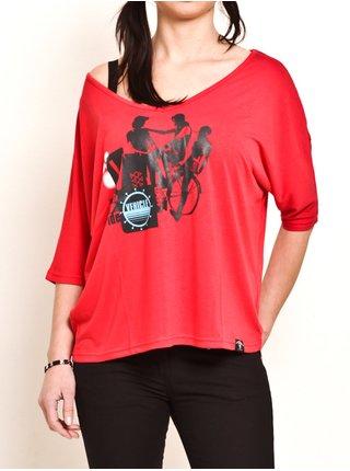 Vehicle THERIDER RED dámské triko s krátkým rukávem - červená