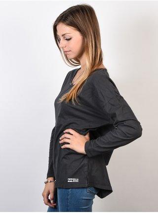 Billabong ESSENTIAL OFF BLACK dámské triko s dlouhým rukávem - černá