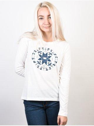 Roxy LILY YUCCA MARSHMELLOW dámské triko s dlouhým rukávem - bílá
