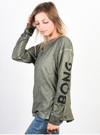 Billabong MY LOOK olive dámské triko s dlouhým rukávem - šedé