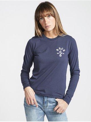 RVCA ROSIE INK dámské triko s dlouhým rukávem - modrá