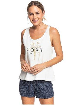 Roxy CLOSING PARTY LOGO SNOW WHITE dámská tílko - bílá