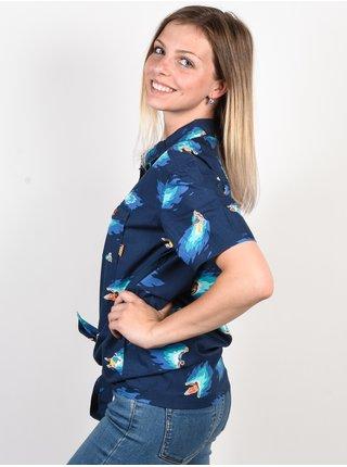 Element HOFFMAN WOVEN NEON BLUE košile pro ženy - modrá