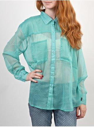 RVCA ANI                  SEA BLUE dámská košile s dlouhým rukávem - zelená