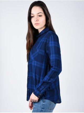 Element KNOW IT NAVY dámská košile s dlouhým rukávem - modrá
