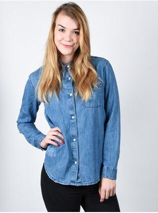 Element MOONLIGHT indigo dámská košile s dlouhým rukávem - modrá
