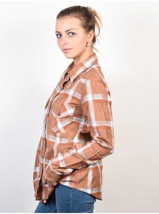 RVCA JIG FLAX dámská košile s dlouhým rukávem