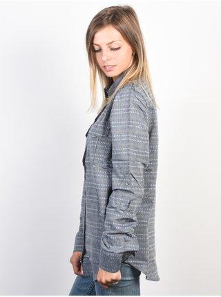 Roxy MILITARY INFLUST DRESS BLUES dámská košile s dlouhým rukávem - šedá