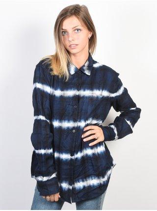 Element SHADES ECLIPSE NAVY dámská košile s dlouhým rukávem - modrá