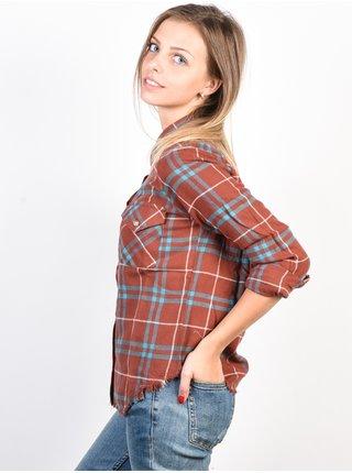 RVCA IN A HAZE HENNA dámská košile s dlouhým rukávem