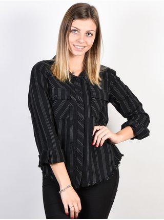 RVCA ANSWERED black dámská košile s dlouhým rukávem - černá