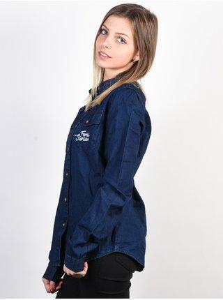 Femi Stories JANA DNB dámská košile s dlouhým rukávem - modrá