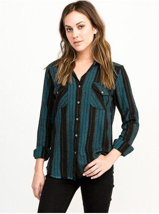 RVCA ARCH BLUE CREST dámská košile s dlouhým rukávem - barevné