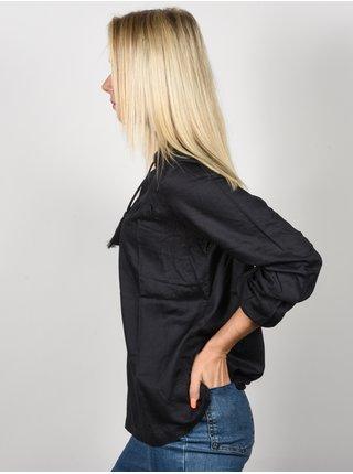 Rip Curl LOTUS LONG SLEEVE ASPHALT dámská košile s dlouhým rukávem - černá