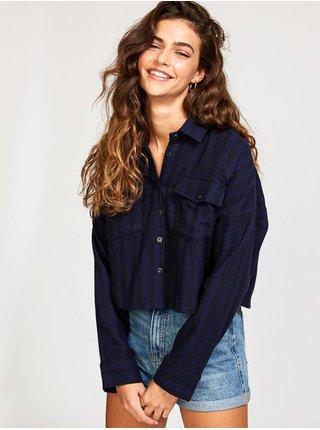 RVCA VEDDER NAVY dámská košile s dlouhým rukávem - modrá