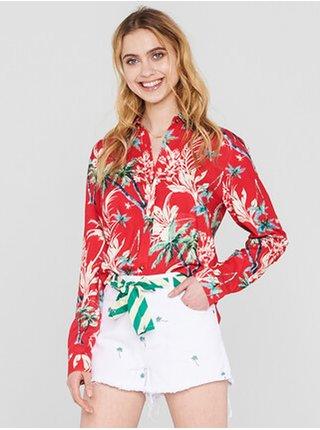 Femi Stories OLIVE TRP dámská košile s dlouhým rukávem - červená