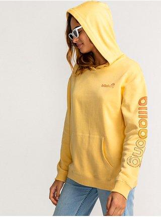 Billabong STOCKED Pale Yellow mikina dámská - žlutá