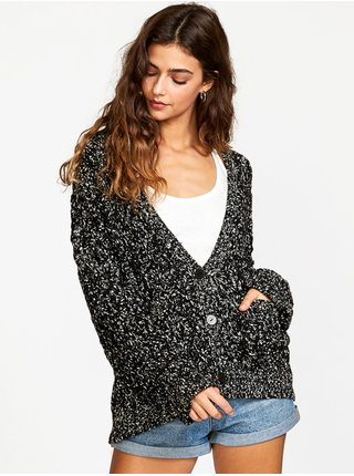 RVCA BRODY CARDIGAN black dámský svetr - černá
