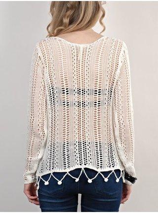 RVCA HOME AGAIN           Vintage White svetr dámský - bílá