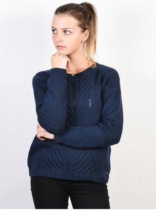 Roxy GLIMPSE OF ROMANCE DRESS BLUES svetr dámský - modrá