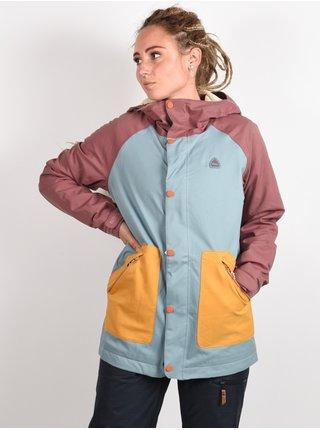 Burton EASTFALL RSBRWN/TRLLIS/HVSTGD zimní dámská bunda - barevné