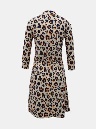 Krémové vzorované šaty Noisy May
