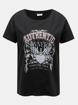 Černé tričko s potiskem Noisy May Command