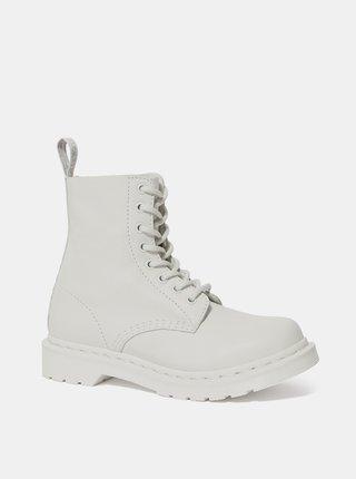 Bílé dámské kožené kotníkové boty Dr. Martens 1460 Pascal Mono
