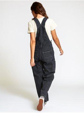 RVCA LILO FADED BLACK plátěné kalhoty dámské - černá