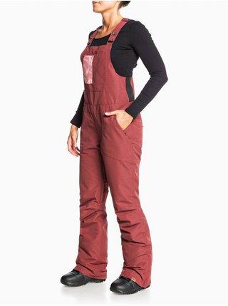 Roxy RIDEOUT BIB OXBLOOD RED dámské zimní kalhoty