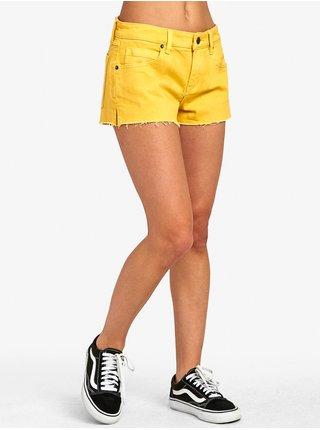 RVCA CUPID 2 AMBER dámské riflové kraťasy - žlutá