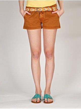 Element STEMSI brown plátěné kraťasy dámské - oranžová