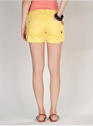 Element STICKER LEMON DROP plátěné kraťasy dámské - žlutá