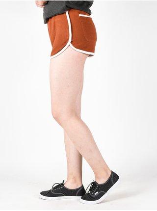 RVCA THE FUZZ Ginger kraťasy teplákové dámské - oranžová