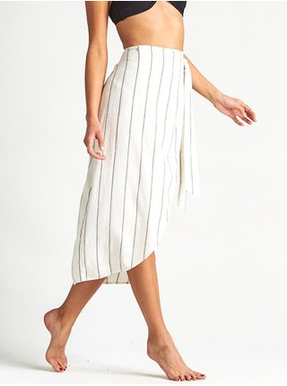 Billabong STAY SARONG SALT CRYSTAL dlouhá letní sukně - bílá