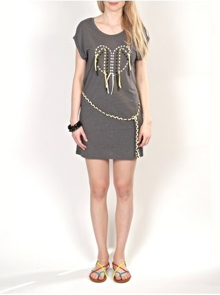 Element MARLE CHARCOAL HEATHE krátké letní šaty - šedá