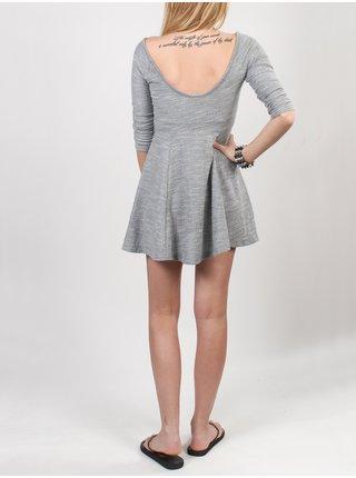Roxy COTTONWOOD SGRH krátké letní šaty - šedá