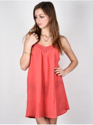 Billabong BEACH BOUND HORIZON RED krátké letní šaty - korálová