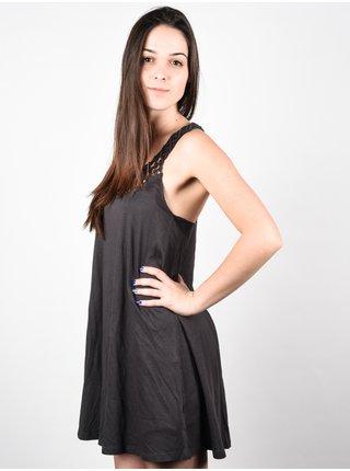 Billabong GREAT VIEWS OFF BLACK krátké letní šaty - šedá