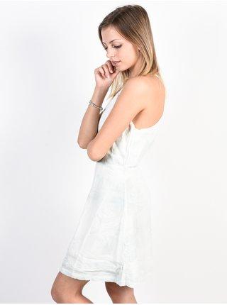 RVCA BAY CLOUD BLUE krátké letní šaty - bílá