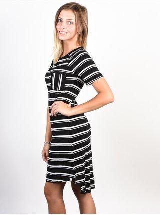 Element LOVELY black krátké letní šaty - černá