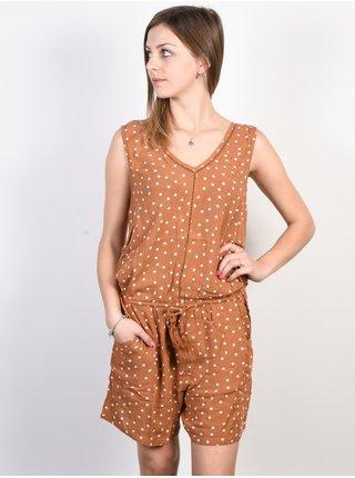 Rip Curl HAVANA CLUB ROMPER  MULTICO krátké letní šaty - hnědá