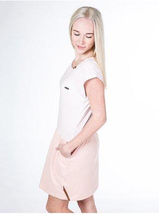 Alife and Kickin SHANNA candy stripes krátké letní šaty - růžová