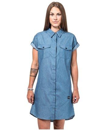 Horsefeathers KARLEE LIGHT BLUE krátké letní šaty - modrá