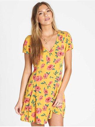 Billabong SKATE DAY GOLDEN GLOW krátké letní šaty - žlutá