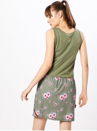 Alife and Kickin ROSALIE   Dust Flowers krátké letní šaty - zelená
