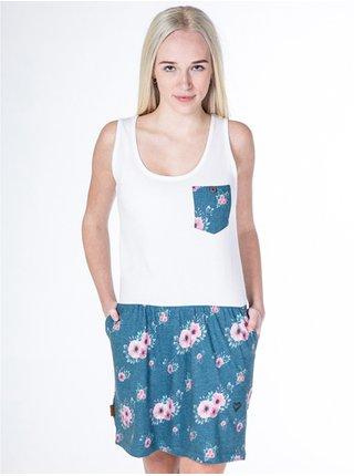 Alife and Kickin ROSALIE   Smaragd Flowers krátké letní šaty - bílá