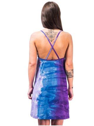Horsefeathers ASTRID Tie Dye krátké letní šaty - modrá