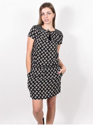 Rip Curl ODESHA GEO black krátké letní šaty - černá