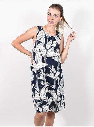 Roxy TRANQUILITY VIBES MOOD INDIGO FLYING FLOWERS krátké letní šaty - modrá
